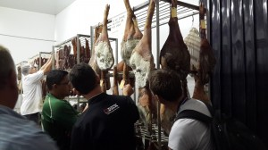 Inside the curing room, just leave me here with a sharp knife please